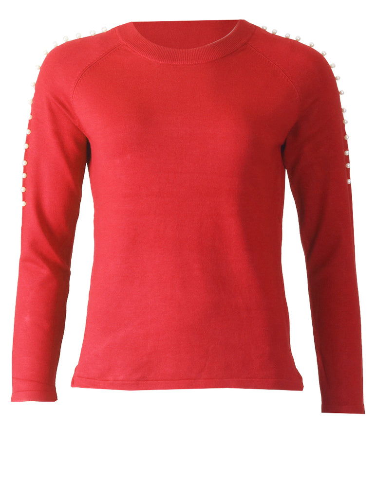 Pearl Knitwear - Red/White