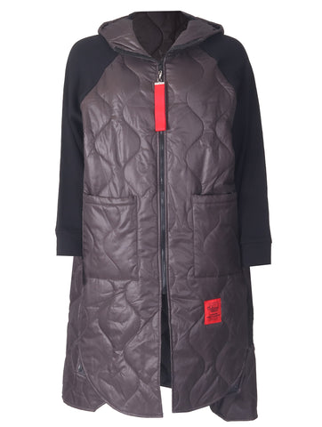 Red Label Coat - Charcoal