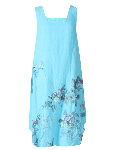 Flower Dress - Turquoise