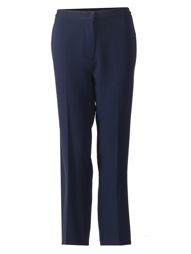 Short Side Elasticated Trousers - Navy