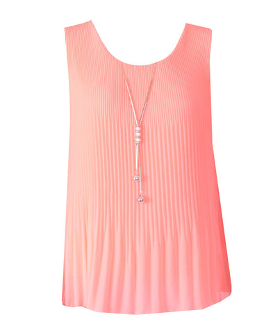 Sleeveless Ribbed Top - Peach