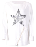 Star Zip Top - Cream