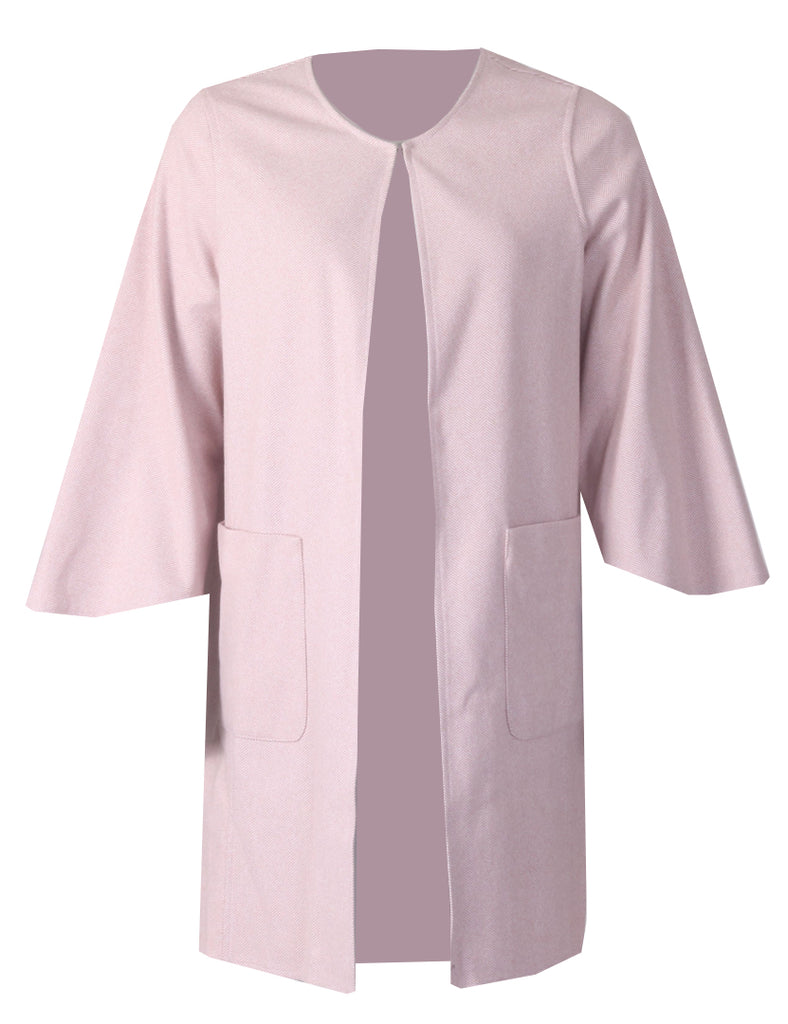 Edge to Edge Coat - Pink