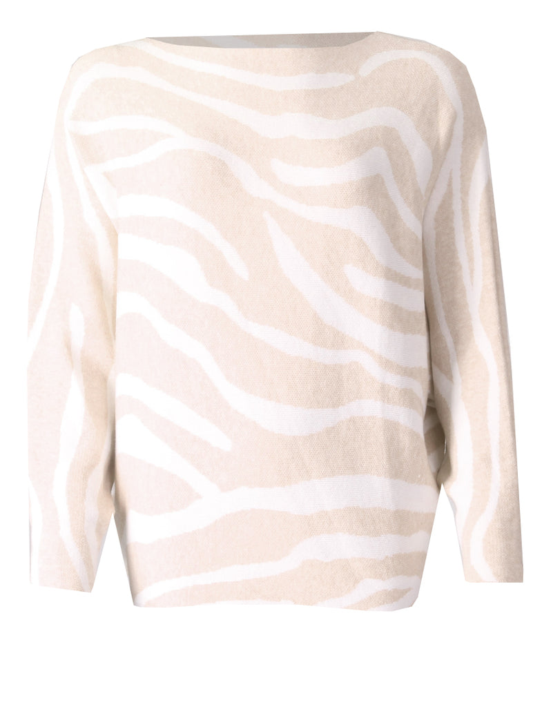 Zebra Jumper - Beige/Cream