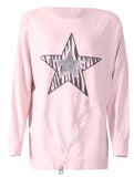Star Zip Top - Pink