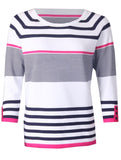 Stripe Knitwear - Hot Pink