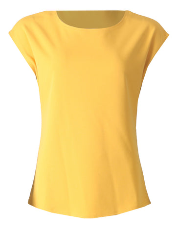 Round Neck Sleeveless Top - Ochre