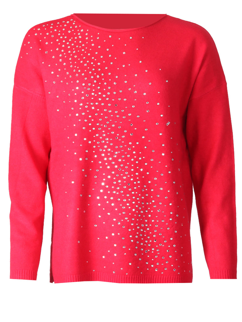 Diamonte Splash Jumper - Red