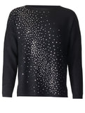 Diamonte Splash Jumper - Black