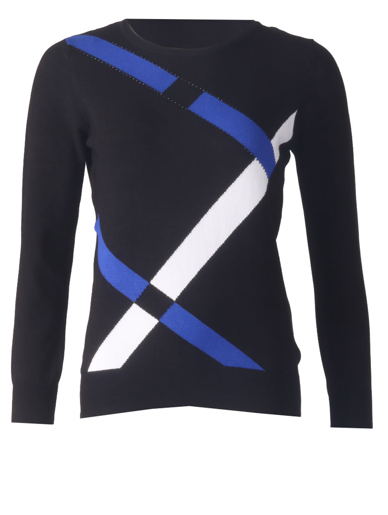 Knitwear - Black/Royal