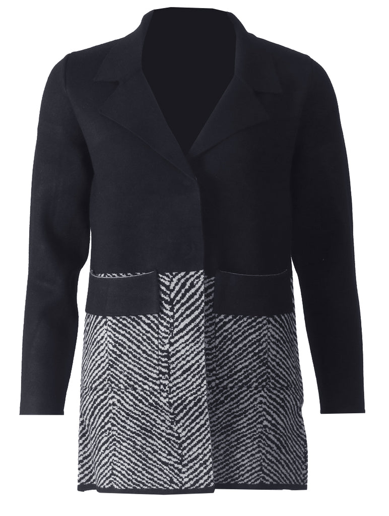 Cardigan - Black/Grey