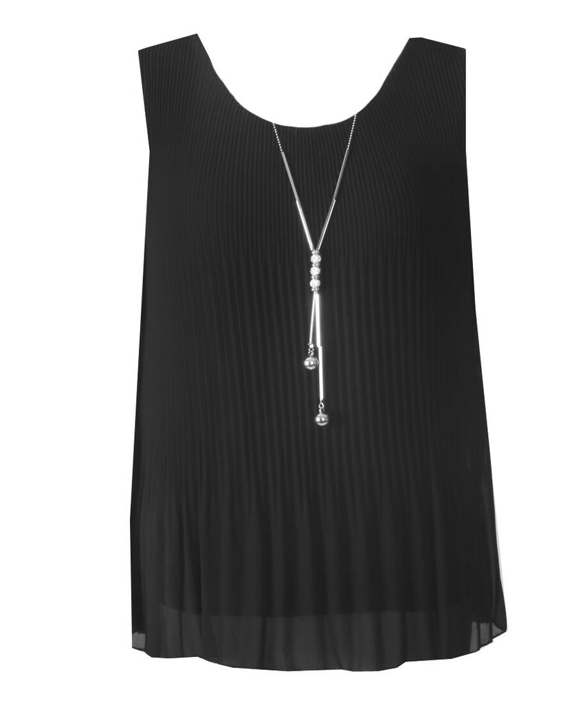Sleeveless Ribbed Top - Black