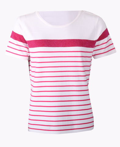 Stripe Top - Ivory/Candy