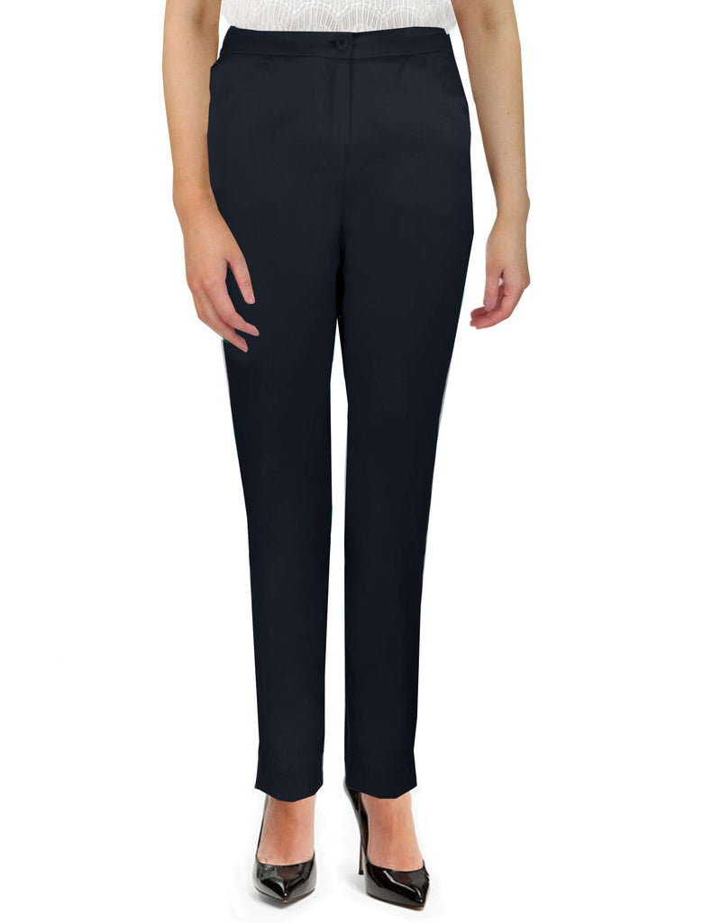Black Side Elasticated Trousers