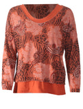 V Neck 2 Piece Top - Rust