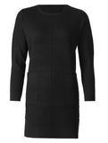 Plain Knit Dress - Black