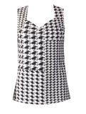 Ruched Vest - Black/Ivory