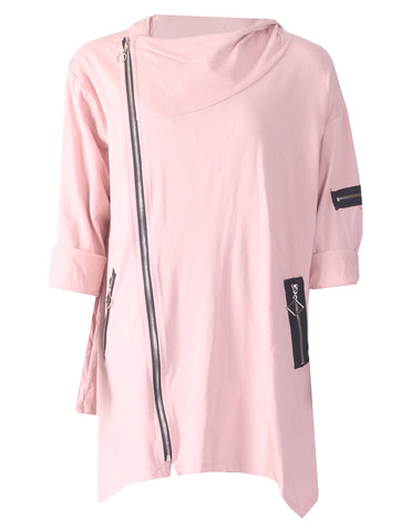 Hooded Zip Jacket - Pink