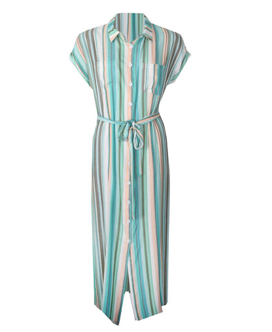Button Dress - Mint