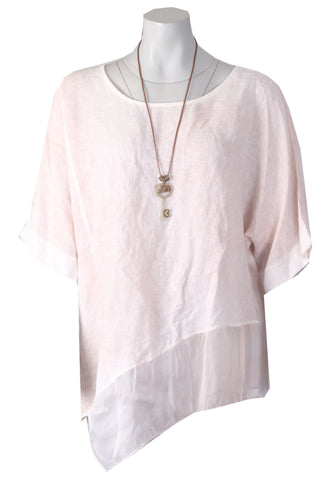 Asymmetric Top - Dusty Pink