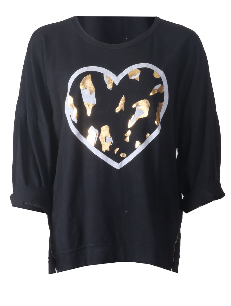 Heart Shaped Top - Black