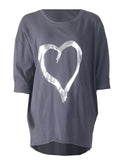 Heart Top - Dark Grey