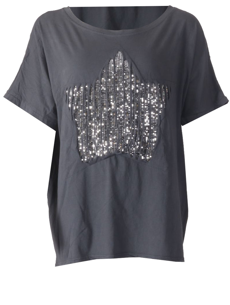 Star T-shirt - Grey