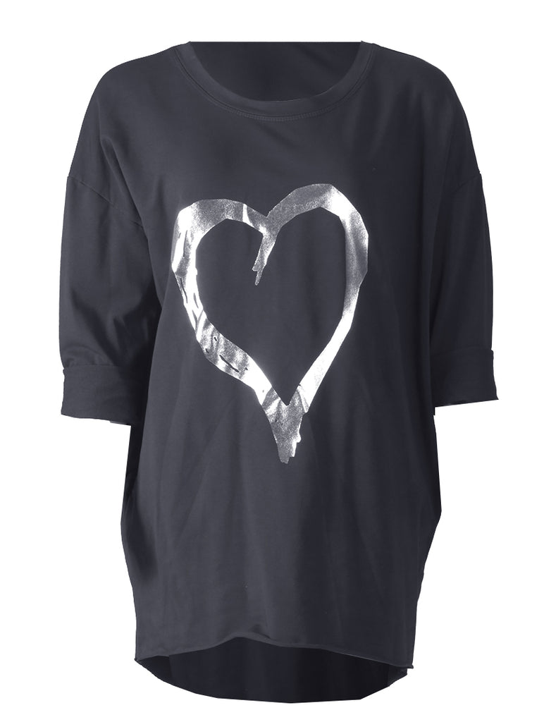 Heart Top - Black