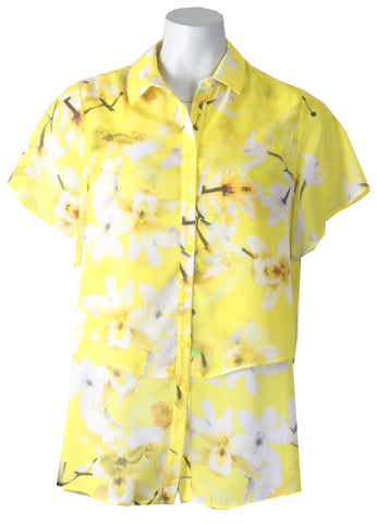 1/2 Sleeve Blouse - Lemon