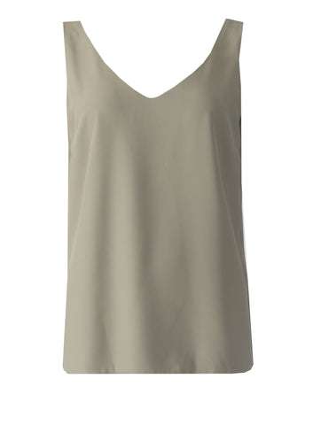 Vest Top - Light Khaki