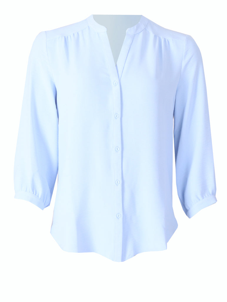 Rachel Blouse - Blue           (Back IN-STOCK Soon)
