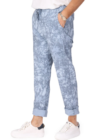 Tie Dye Magic Trousers - Grey