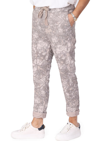 Tie Dye Magic Trousers - Beige