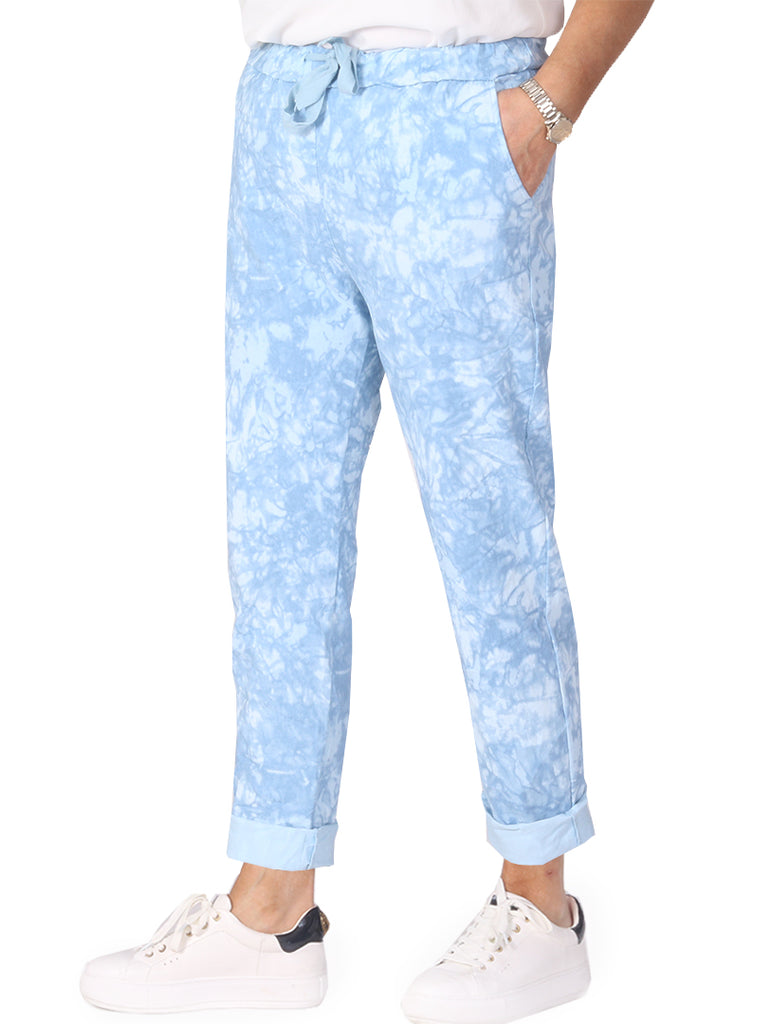 Tie Dye Magic Trousers - Blue