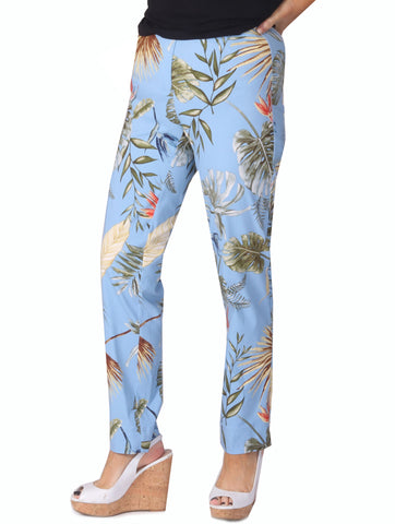 Printed Trousers - Blue Multi