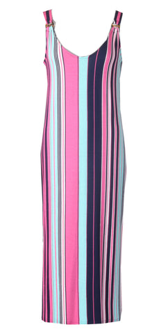 Ring Detail Maxi - Pink/Navy
