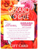 Gerard/Vogue Gift Card for Mum