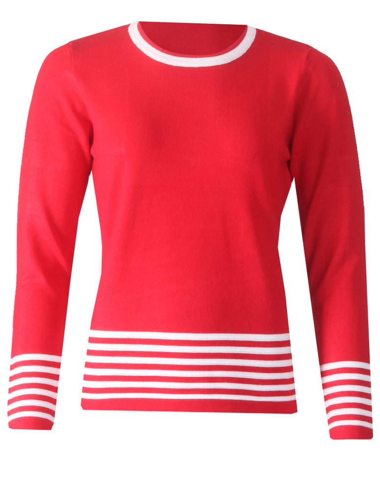 Knitwear - Red/White