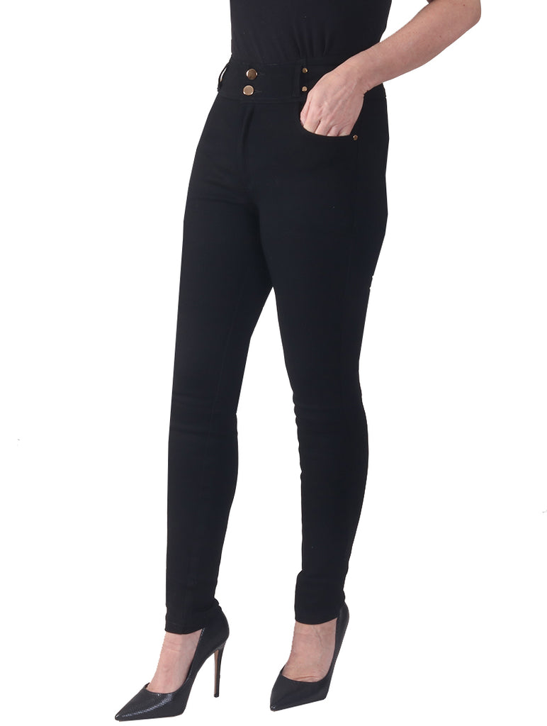 "29"" High Waist Super Stretch Magic Jeans - Black"