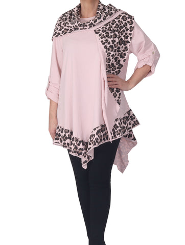 Tunic with Scarf - Pink