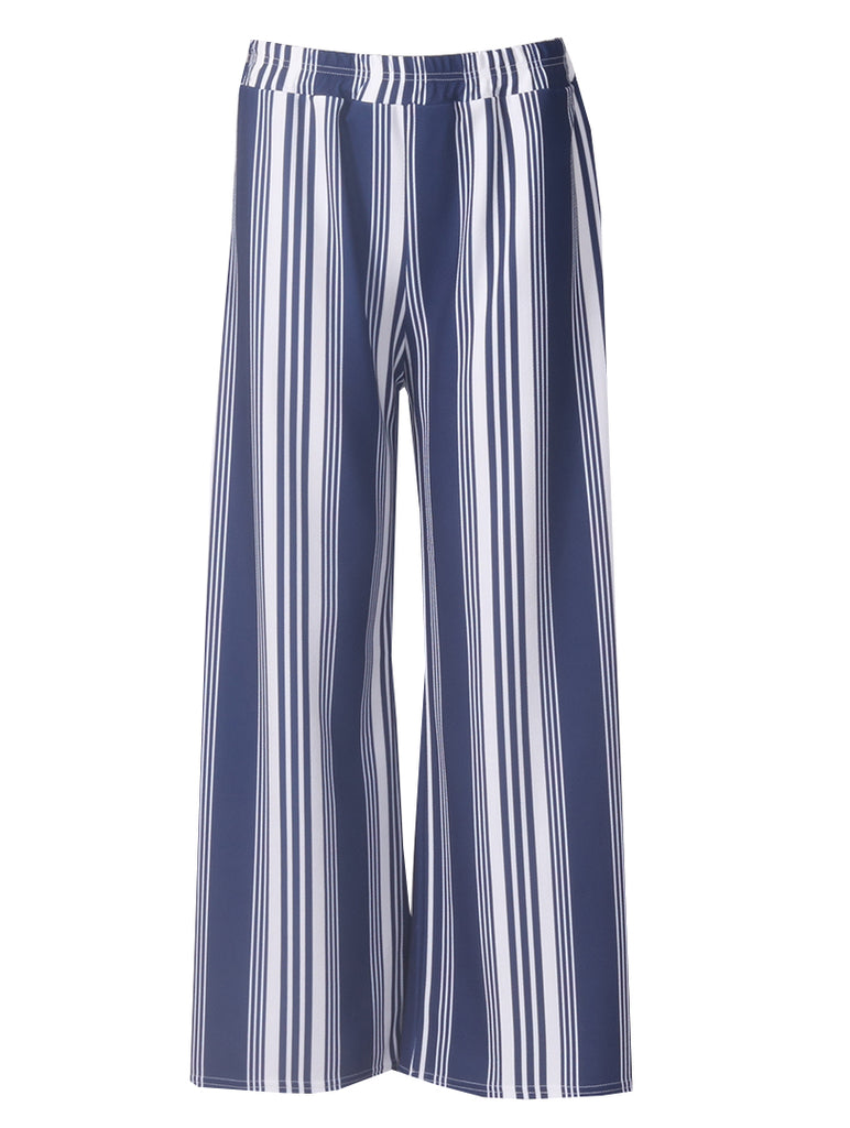 Elasticated Trousers - Navy