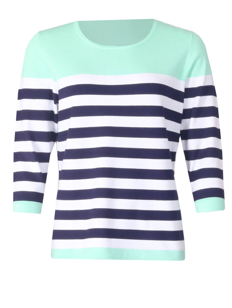 Luxury Stripe Knitwear - Mint