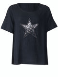 Diamonte Star Top - Black