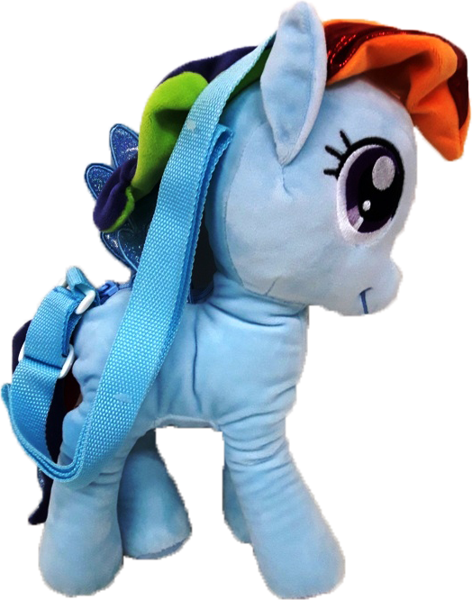 My Little Pony 3D Standing Plush Bag - Blue