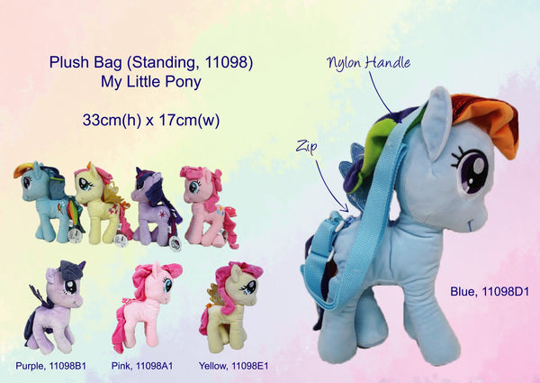 My Little Pony 3D Standing Plush Bag - Pink - Pinkie Pie
