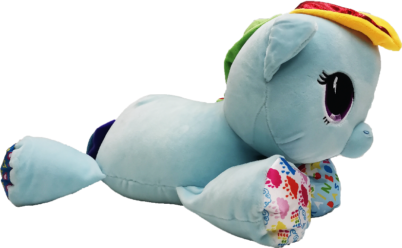 My Little Pony Playskool Baby Floppy Plush Toy - Blue (Large)