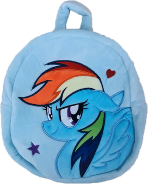 My Little Pony Plush Backpack - Blue (24cm)