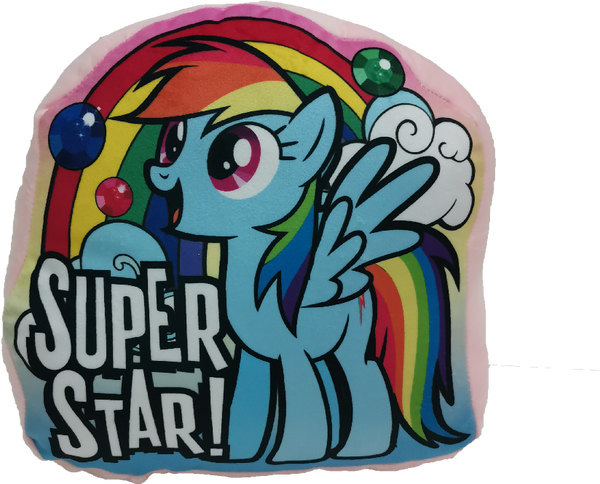 My Little Pony Shaped Cushion with Message - Blue
