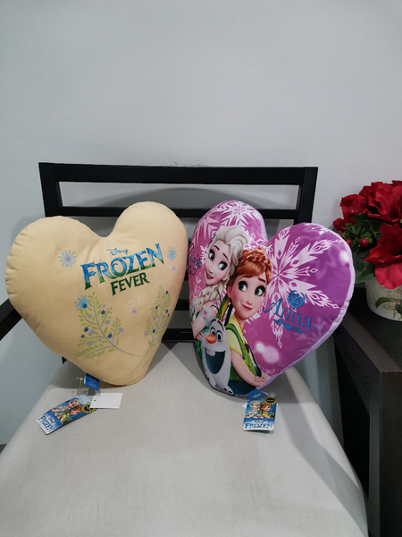 Disney Frozen Heart Shaped Cushion - Beoge Color