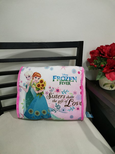 Disney Frozen Rectangular Cushion - Sister Love - Pink Color